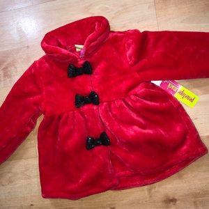 Toddler girls fluffy coat size 3T